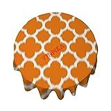 Mantel redondo de 36 pulgadas, elegante, color naranja soleado y marroquí, para mesa de bufet, fiestas, cenas de vacaciones, bodas y más