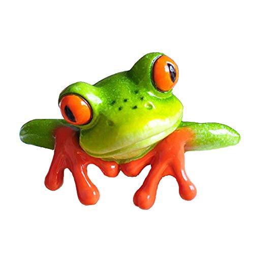 Figura de rana de YOUOR, decorativa, de resina, resina (Front Style)
