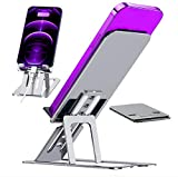 LeiGei Alloy Aluminum 2021 Cell Phone Stand Foldable & Angle Height Adjustable Desktop Phone Sturdy Holder for Office Desk Compatible with All Mobile Phone/iPad/Tablet/Kindle/Smartphones Charging