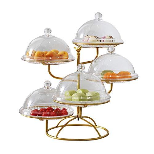 Plato de fruta multicapa, soporte para tartas de boda con varios niveles acrílicos, expositor de dulces para decoración de salón