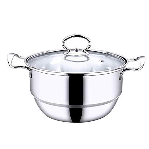 XXDTG Acciaio Inossidabile Addensare Tre Piani Steamer Pentole Pot Sauce Pot Multistrato Caldaia (Size : 20cm)