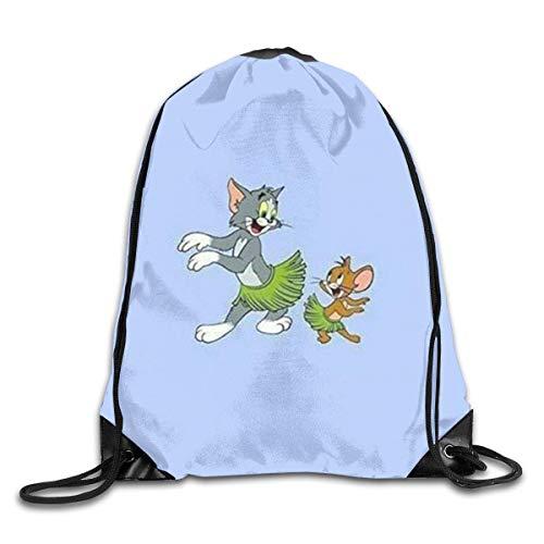 LREFON Tom And Jerry Happy Dance Drawstring Bag Gym Backpack Man Women Sport Storage Shoulder Bag