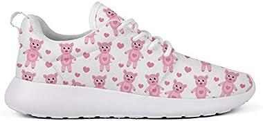Hobart dfgrwe Women's Lady Men's Cute Cartoon Pig Skateboard Designer Sneakers Casual Shoes Sneakers