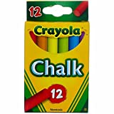 Crayola Chalk, Assorted Colors 12 ea ( Pack of 1)