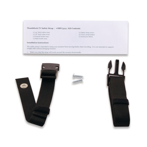 Ready America MRV3515 Travel Safety Straps For Wall