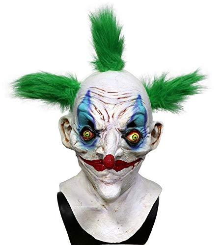 Hengyutoy Mask Máscara del Payaso del látex de Halloween Cara del Fantasma con el Pelo también Bar Costume Dance Party Props
