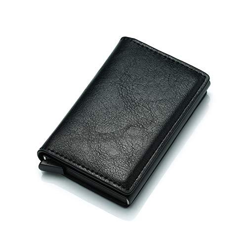 USNASLM Anti-Theft Block Smart Wallet Monedero de fibra de carbono para hombre Neutral Seguridad Información Billetera