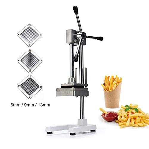 Vertical Manual Cutting French Fries Machine Commercial Vegetable Fruit Dicer Onion Tomato Slicer Professional Quick Slicer Machine Manual Slicer Cutter Chopper Lettuce Pepper Mushroom