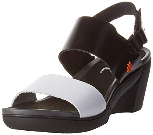 Art Rotterdam, Zapatos de tacón con Punta Abierta Mujer, Multicolor (Black/White Black/White), 36 EU