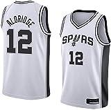 XIAOHAI Hombres Camisetas de la NBA San Antonio Spurs # 12 Lamarcus Aldridge Transpirable Resistente al Desgaste Malla Bordado Baloncesto del Swingman de los Jerseys,Blanco,XL
