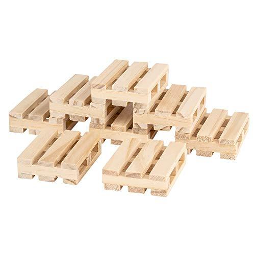 Ideen mit Herz - Mini pallet, piccoli pallet decorativi in legno, ideali per bricolage, fai da te o come sottobicchieri
