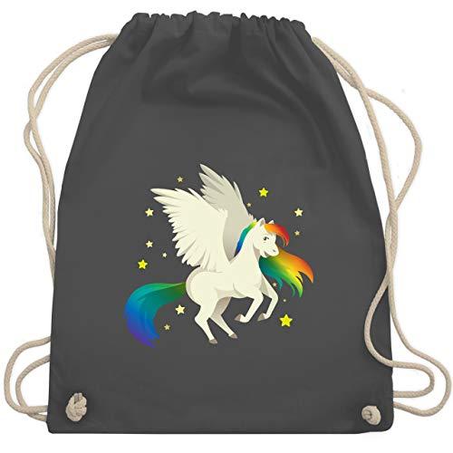 Comic Shirts - Pegasus - Unisize - Dunkelgrau - pferd turnbeutel - WM110 - Turnbeutel und Stoffbeutel aus Baumwolle