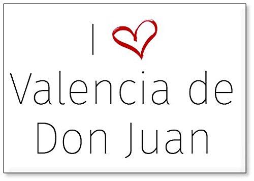 Mundus Souvenirs - Amo Valencia de Don Juan, Imán para Nevera (diseño 2)