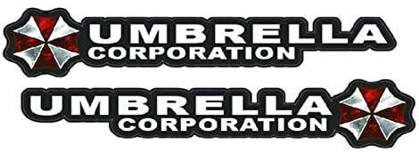 Couple of Umbrella Corporation Resident Evil Car Sticker Decal JXUS (1 : 1)
