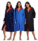 Adoretex Unisex Swim Parka Water Resistant Sports Coat Jacket, for Adult & Kids - Red Lining (PK005)-Navy/Red-YM
