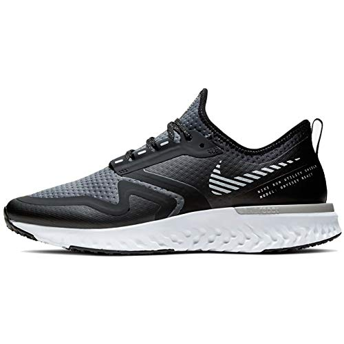 Nike Damen Odyssey React 2 Shield Laufschuhe, Schwarz (Black/Metallic Silver-Cool Gre 003), 38 EU