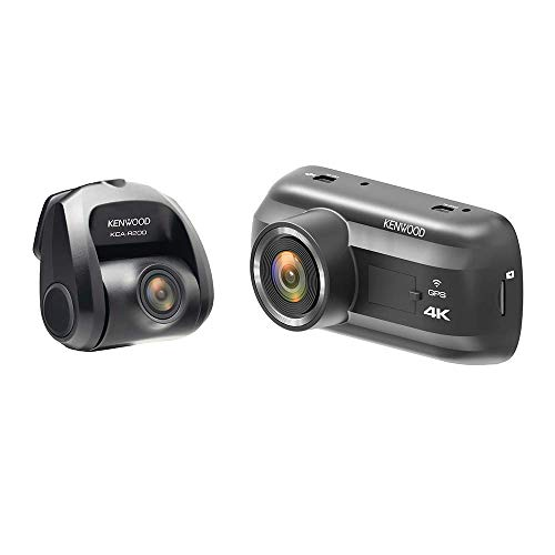 Kenwood DRV-A601WDP 4K Ultra HD Dual Dash Cam with 3.0' LCD Display | GPS Integrated | Wireless Link