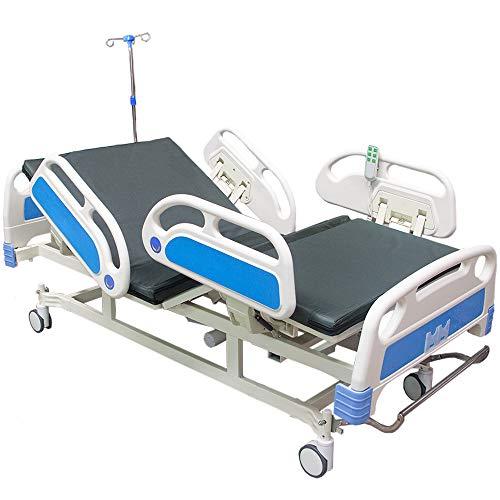 Nanofort Cama De Hospital Electrica De Lujo 2 Posiciones Base Panel Colchon Barandal Soporta Hasta 260 Kg...