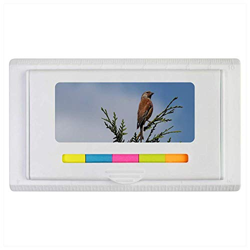 Azeeda 'Perched Bird' Sticky Note Ruler Pad (ST00002114)