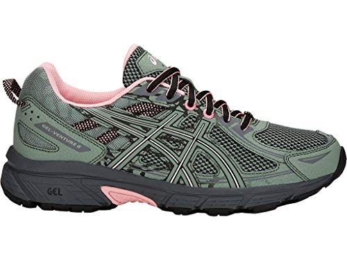 ASICS Women's Gel-Venture 6 Trail Running Shoes, 8.5M, Slate Grey/Frosted Rose