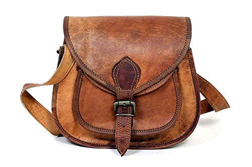 Bolso de mano hecho a mano de 9'pulgadas de cuero genuino bolso de mujer, bolso de cuero para mujer