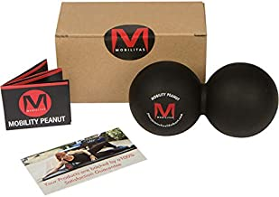 Mobilitas Mobility Peanut - The Original Double Lacrosse Ball & Deep Tissue Mobility Ball. Stronger Grip and Durability Than Other Deep Tissue Massage Balls - Extra Firm - Sanitizes Easily