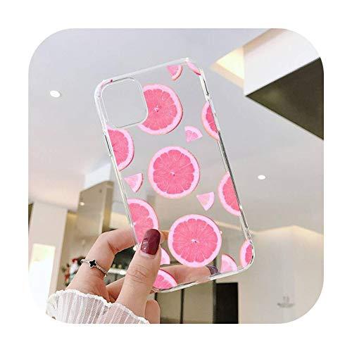 Colorido Sweety fruta limón teléfono Carcasas transparente para iPhone 6 7 8 11 12 s mini pro X XS XR MAX Plus SE Shell cubierta funda-a1-iphone 12 mini