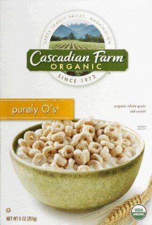 Cascadian Farm Organic Purely O's Cereal, 8.6-ounce Boxes (Pack of 2) by Cascadian Farm Organic
