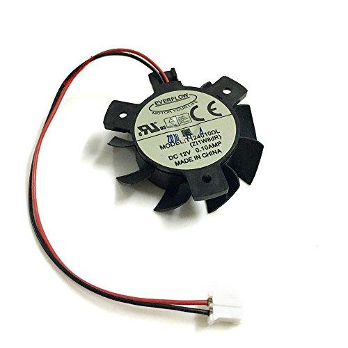 T124010DL para ASUS HD4550 HD5570 37mm DC12V 0.1A 2PIN Fan