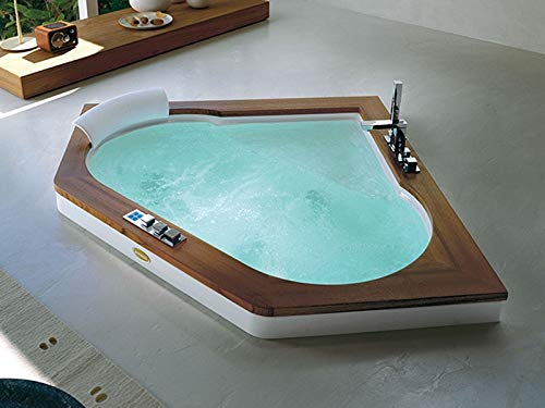Jacuzzi Aura Corner 140 Wood bañera de hidromasaje empotrada 9F43492A