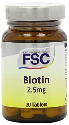 FSC 2.5mg Biotin 30 Tablets from Food Supplement Company