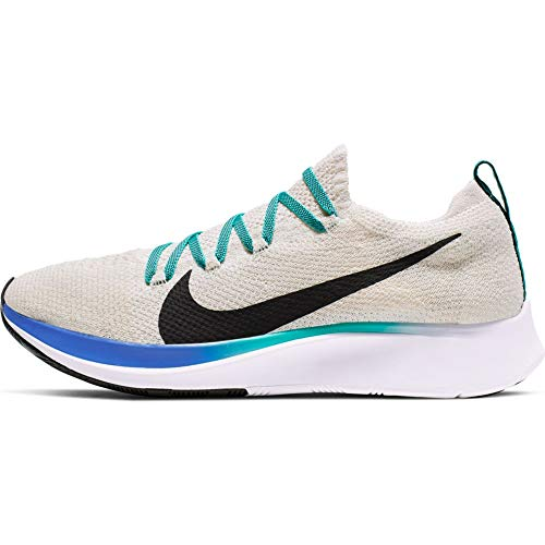 Nike Zoom Fly Flyknit Women's Running Shoe Light Cream/Black-Hyper Jade-Sapphire 8.0