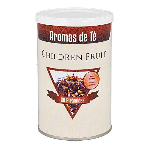 Aromas de Té - Infusiones Variadas - Pirámides de Children Fruit en Formato de 20 Pirámides - Infusión Natural sin Teína - Infusión Elaborada con Frutas y Vitaminas Ideal en Época de Alergias