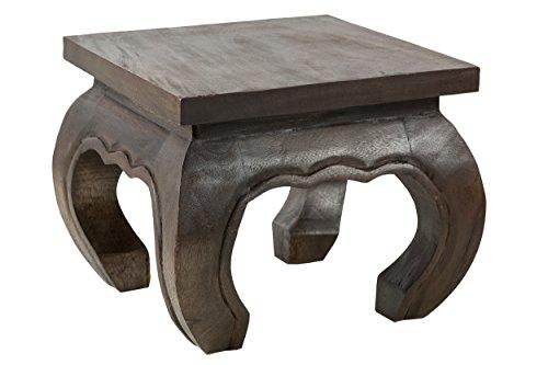 Opiumtischchen 35x35x30cm Massivholz Handarbeit, schwarz-braun