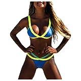 riou Bikinis Mujer 2021 Push up Sexy Tres Puntos con Estampado de Cebra y Tira Mujeres Conjunto de Traje de BañO Brasileños Bañador Ropa de Dos Piezas vikinis