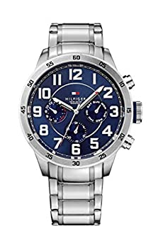 Tommy Hilfiger Men s 1791053 Stainless Steel Watch with Link Bracelet