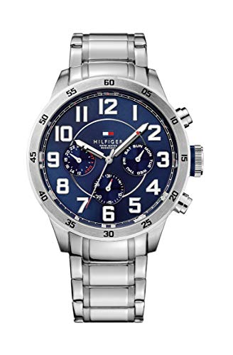 Tommy Hilfiger Herren Analog Quarz Uhr mit Edelstahl Armband 1791053