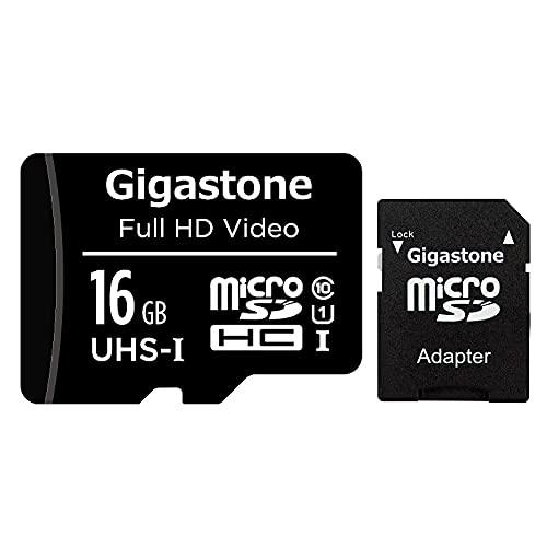 Gigastone マイクロSDカード 16GB Micro SD Card SD アダプタ付 ミニ収納ケース付 SDHC U3 C10 85MB/S Gopro アクションカメラ スポーツカメラ 高速 micro sd カード Class 10 UHS-I フルHD 動画