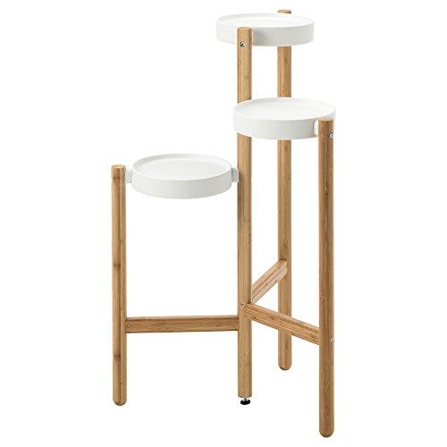 IKEA SATSUMAS - Support des plantes Bamboo / blanc