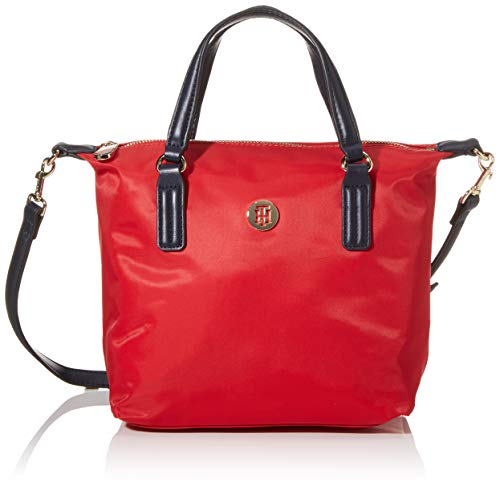 Tommy Hilfiger Damen Poppy Small Tote, Rot (Barbados Cherry), 1x1x1 cm
