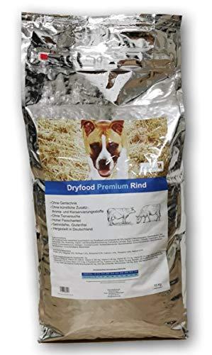 Petyfood Dryfood Premium Rind Trockenfutter für Hunde - Hundefutter trocken Getreidefrei 15Kg