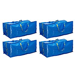 in budget affordable Ikea 901.491.48 Frakta storage bag, blue, 4 pcs