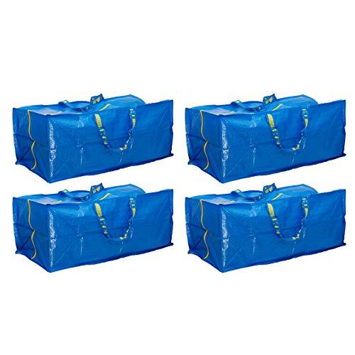 Ikea Frakta Storage Bag, Blue, 4 Pack
