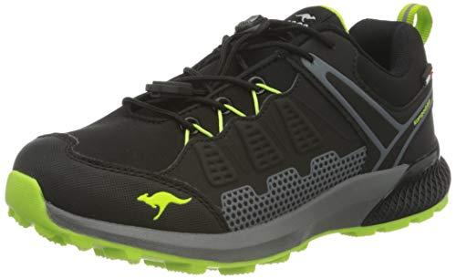 KangaROOS K-Surve RTX Sneaker, Jet Black/Neon Green 5077, 35 EU
