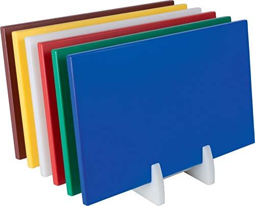 Gastro Spirit - Großes Schneide-Brett/Küchen-Brett - Gelb, Kunststoff, 50 x 30 x 1,5 cm, HACCP, LFGB Zertifikat, mit rutschhemmenden Füßen