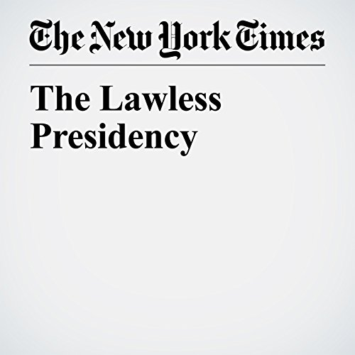 The Lawless Presidency copertina