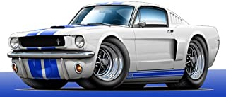 GF 1965 Shelby GT350 WALL DECAL 2ft long Car Sport Classic Graphic Sticker Man Cave Garage Boys Room Decor