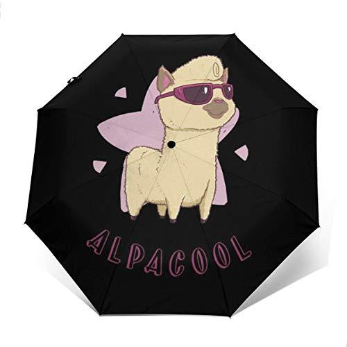 Alpacool Alpaka-Regenschirm, Winddicht, kompakt, automatisch, faltbar, für Reisen