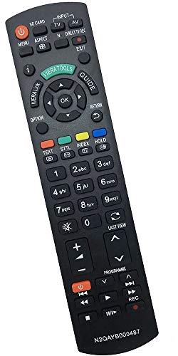 allimity reemplazo de Control Remoto N2QAYB000487 (para N2QAYB000354) Sub N2QAYB000239 Aptos para Panasonic TX-TX-L32G20E L37G20E TX-TX-P42GW20 P42G20E TX-TX-L42G20E P46G20E TX-TX-PR50G20 P50G20E