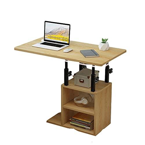Mesa lateral moderna móvil en forma de C bandejas de TV rectangulares mesa de sofá para sala de estar, cama y oficina en casa 80 x 40 cm bandeja de comida escritorio